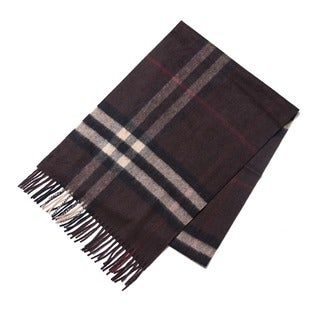 Burberry Chestnut Brown Mega Check Scarf
