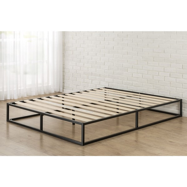 Shop Priage 10-inch Queen-Size Metal Platform Bed - Free Shipping ...