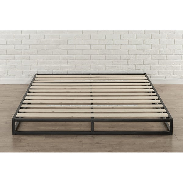 Priage 6 Inch King Size Metal Platform Bed Frame Free