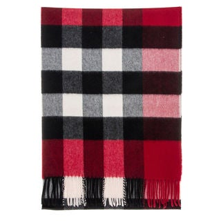 Burberry Half Mega Check Red Scarf