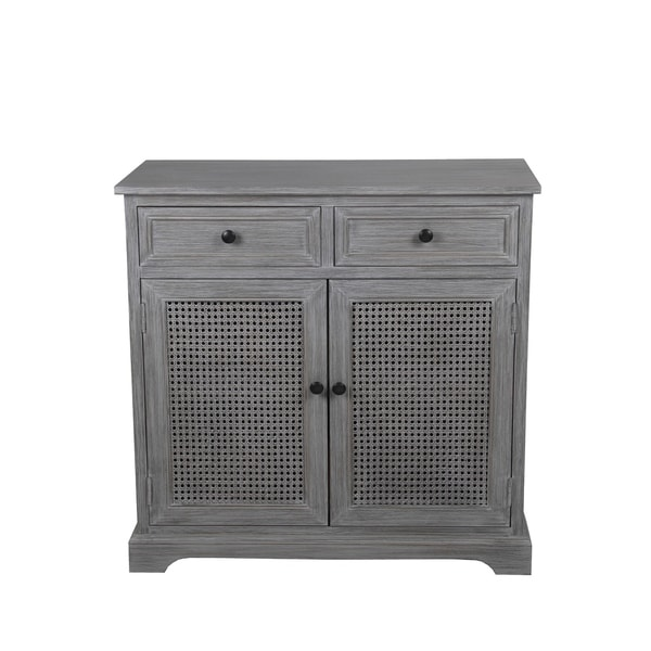 Shop Privilege Slate Grey Wood 2 Drawer 2 Door Storage Cabinet