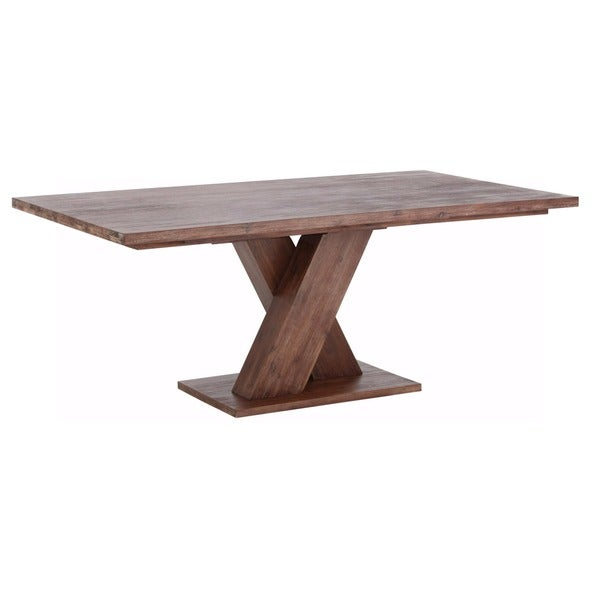 Shop Cong 79 Inch Long Acacia Wood Dining Table Free