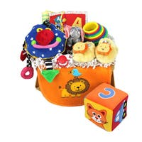 Baby Gift Idea Multicolor Cotton New Baby Celebration Gift Basket