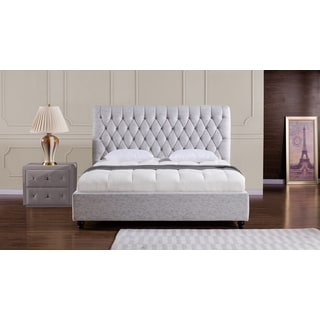 Light Grey Fabric Bed