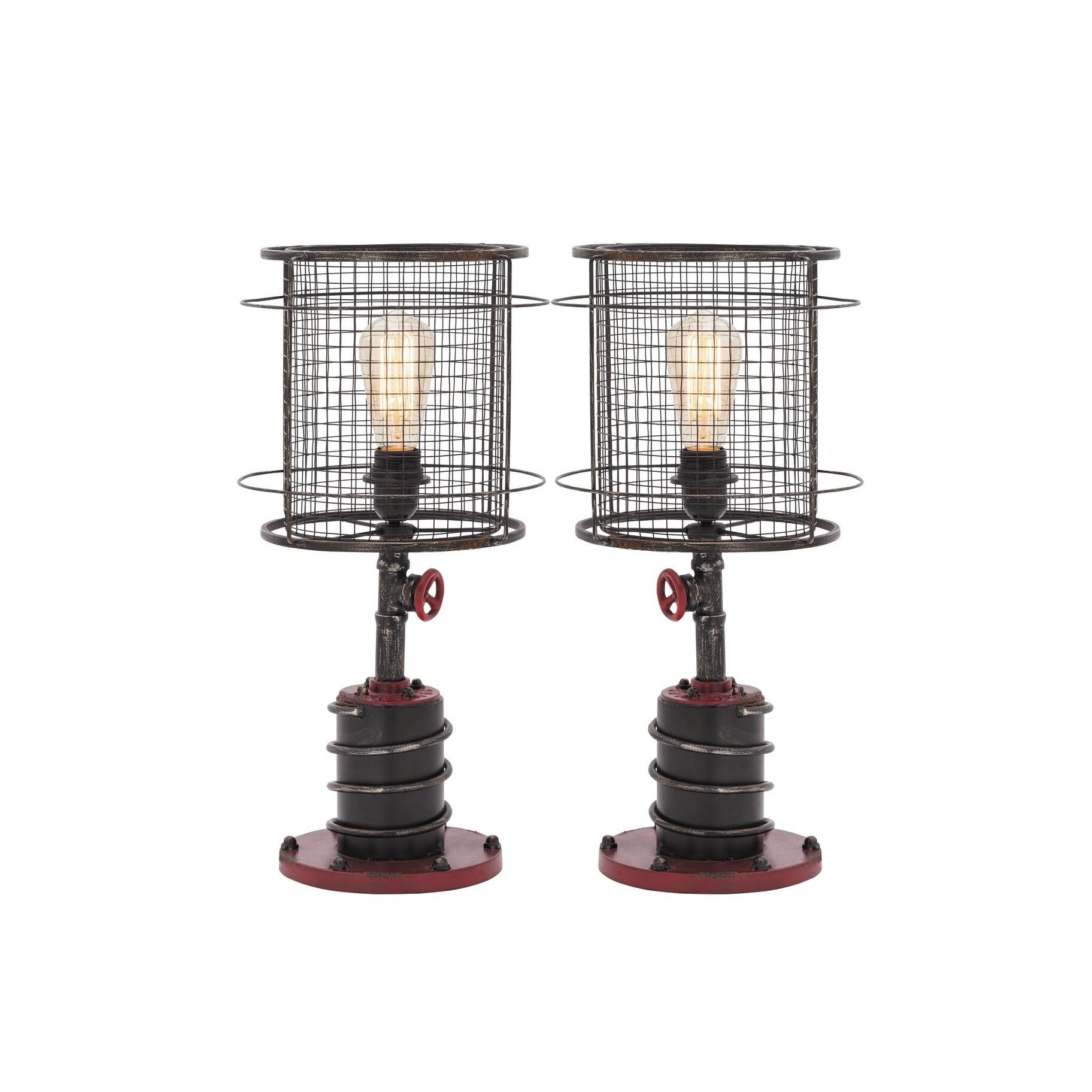 Benzara 21 Inch Metal Table Lamp