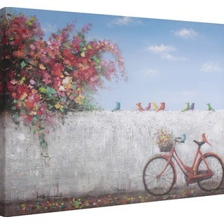 Hobbitholeco 'Red Cycle' 30-inch x 40-inch Gallery-wrapped Canvas Wall Art
