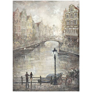 Hobbitholeco Peter Kijanista 'Amsterdam Lovers I' 30-inch x 40-inch Gallery-wrapped Canvas Art