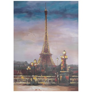 Hobbitholeco. 'Eiffel View' 30-inch X 40-inch Gallery-wrapped Canvas Art