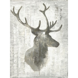 Hobbitholeco Anastasia C 'Deer Face Horns II' 30-inch x 40-inch Gallery-wrapped Canvas Wall Art