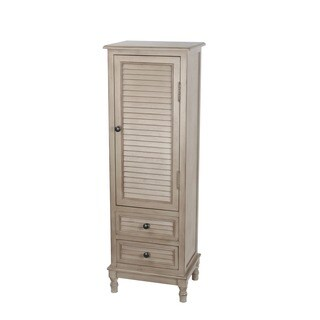 Privilege French Grey Wood 2 Drawer Storage Accent Cabinet