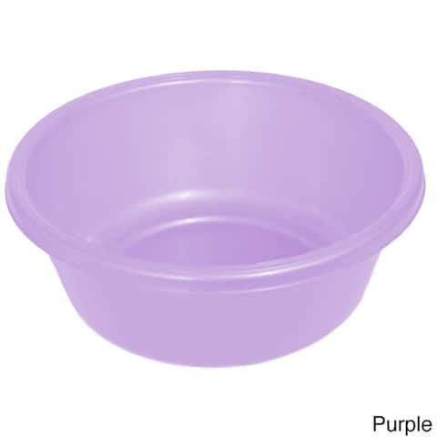 YBM Home Round Plastic Wash Basin
