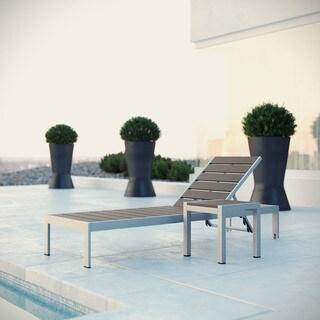 Shore Aluminum Outdoor Grey 2-piece Patio Set