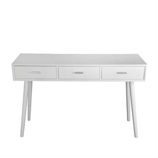 Privilege White Wood 3-drawer Console Table