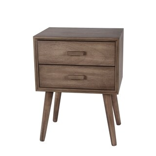 Privilege Mid-century Desert Brown 2-Drawer Accent Stand