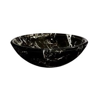 Novatto Pallina Glass Vessel Bathroom Sink Set, Chrome