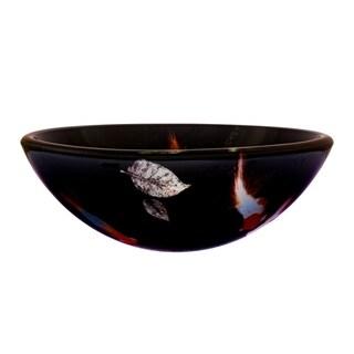 Novatto Fiche Glass Vessel Bathroom Sink Set, Oil Rubbed Bronze