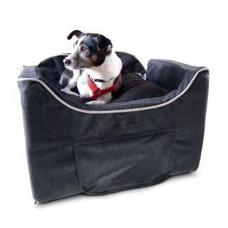 Snoozer Luxury Microsuede Lookout II Dog Black Car Seat