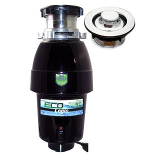 1/2 HP Eco-Logic 7 Mid-Duty Designer Series Food Waste Disposer with Polished Chrome Sink Flange