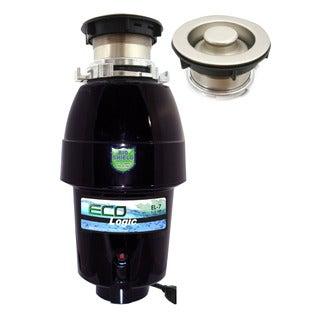 1/2 HP Eco-Logic 7 Designer Series Food Waste Disposer with Brushed Nickel Sink Flange