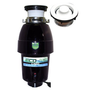 1/2 HP Eco-Logic 7 Designer Series Food Waste Disposer with White Sink Flange