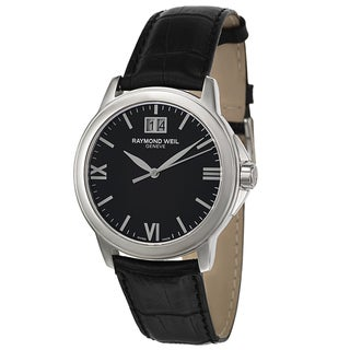 Raymond Weil Stainless Steel Black Leather Men's Watch