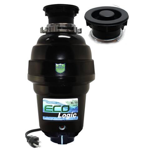 1 1/4 HP Eco-Logic 10 Designer Series Food Waste Disposer with Black Sink Flange