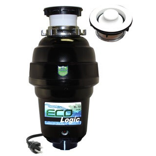 1 1/4 HP Eco-Logic 10 Designer Series Food Waste Disposer with White Sink Flange