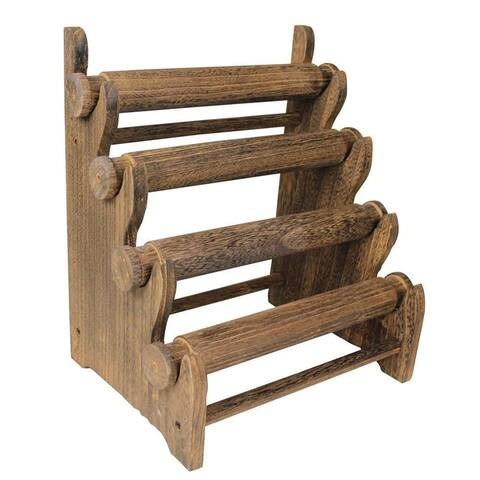 Antique Wooden Four Tier Bar Jewelry Display