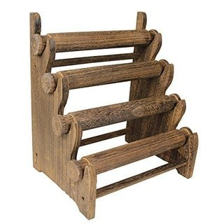 Ikee Design Antique Wooden Four Tier Bar Jewelry Display