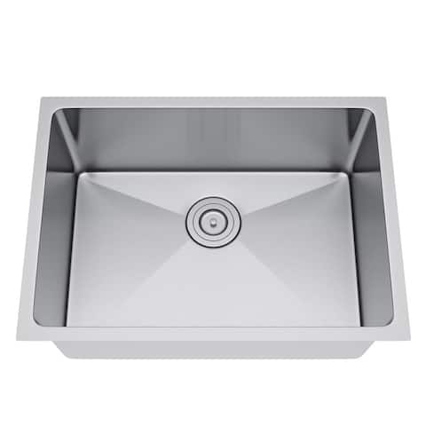 Exclusive Heritage 25 x 18 Single Bowl Undermount Stainless Steel Kitchen Sink
