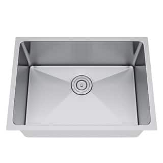 Exclusive Heritage 25 x 18 Single Bowl Undermount Stainless Steel Kitchen Sink|https://ak1.ostkcdn.com/images/products/13456143/P20145205.jpg?impolicy=medium
