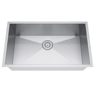 Exclusive Heritage 30 x 19 Single Bowl Undermount Stainless Steel Kitchen Sink