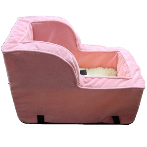 Snoozer High Back Console Pink Dog Car Seat
