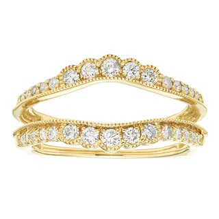 Sofia 14k Yellow Gold 1/2ct TDW Diamond Guard