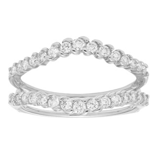 Sofia White Gold 1/2ct TDW H-I, I1-I2 Diamond Guard