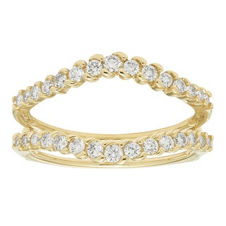 Sofia Yellow Gold 1/2ct TDW H-I I1-I2 Diamond Guard Band