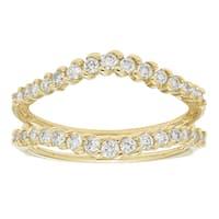 Sofia Yellow Gold 1/2ct TDW H-I I1-I2 Diamond Guard Band