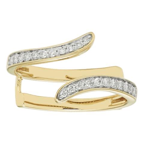 Sofia 14k White Gold 1/4-carat TDW Diamond Guard Ring