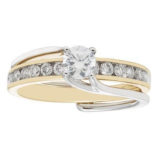 Sofia 14k Gold 0.75k Two-tone Bridal Insert Set (H-I,I2-I3)