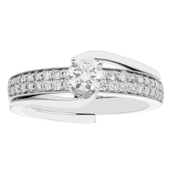 Sofia White Gold 0.75-carat TDW H-I I2-I3 Bridal Insert Set