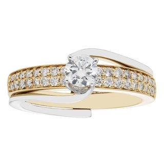 Sofia 14k Gold 3/4-carat TDW Two-tone Bridal Insert Set