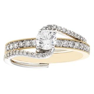 Sofia 14k Gold Two-tone 0.75-carat TDW H-I I2-I3 Bridal Insert Set