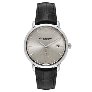 Raymond Weil Geneve Men's Stainless Steel Leather Watch