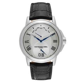 Raymond Weil Stainless Steel Leather Strap