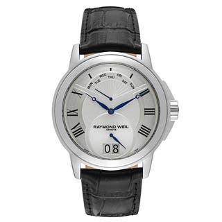Raymond Weil Stainless Steel Leather Strap|https://ak1.ostkcdn.com/images/products/13456324/P20145279.jpg?impolicy=medium