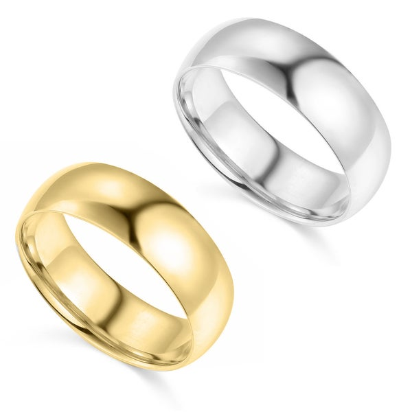 14k Yellow or White Gold 7 mm Polished Comfort Fit Wedding Band. Opens flyout.