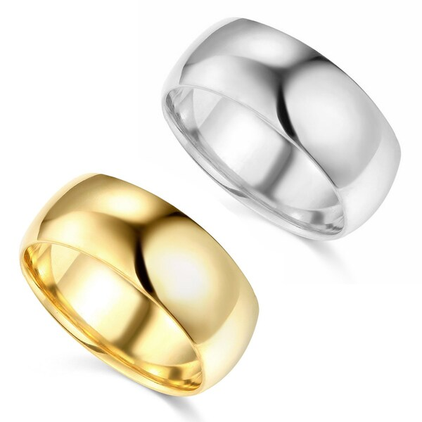 14k Yellow or White Gold 8 mm Polished Comfort Fit Wedding Band. Opens flyout.