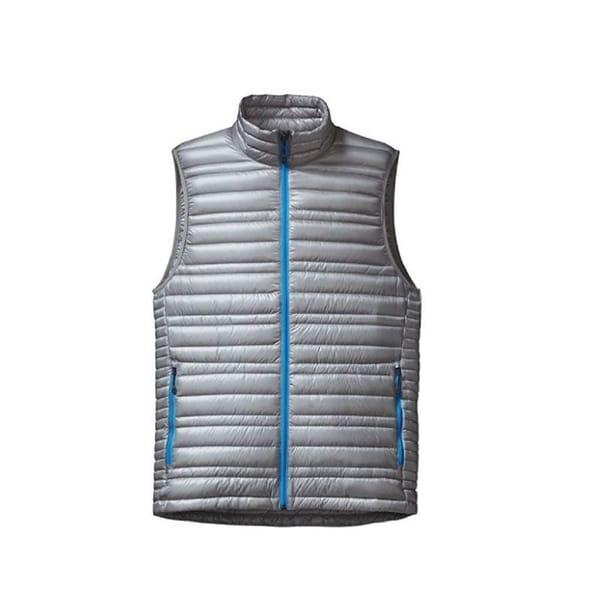 Shop Patagonia Men S Ultralight Drifter Grey Down Vest