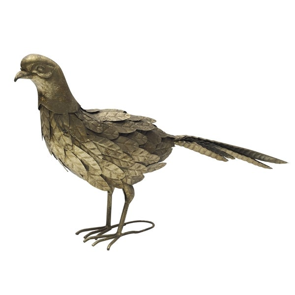 Bombay Goldtone Metal Bird Figurine