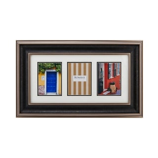 Bombay Hudson Black and Gold 3-Picture Glass Collage Frame